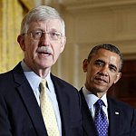 Photo of Dr. Francis Collins and President Barak Obama