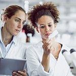 Two women researchers
