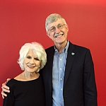 Image of Dr. Collins and Diane Rehm