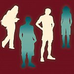Youth silhouettes