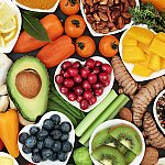 An array of healthy foods
