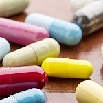 An assortment of colorful capsules.