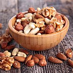 A bowl of assorted nuts