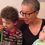 Adine Usher with her grandchildren