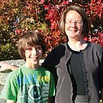 Dr. Anne Zajicek with her 12-year-old son Eli