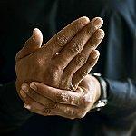 A close-up of hands