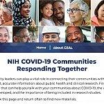 Screenshot of the COVID-19 Communities Website
