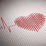 ECG readings in the shape of a heart.