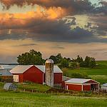 Farmland with beautiful clouds.