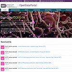 Screenshot of the OpenData Porta