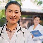Smiling female doctor.