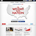 """Screenshot of HBO's """"The Weight of the Nation"""" website."""