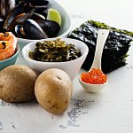 Images of foods containing iodine.