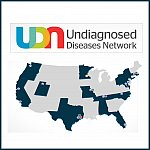United States map showing the location of Undiagnosed Diseases Network participants.