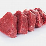 Four slices of filleted red meat