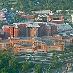 Aerial image of the NIH Clinical Center
