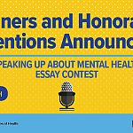 "NIH announces winners of ""Speaking Up About Mental Health!"" essay contest"