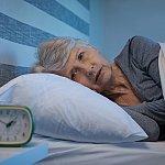 An older woman sleeping