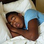 A teen sleeping