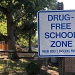Drug Free School Zone - stock photo
