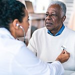 Senior adult man at medical appointment