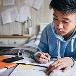 young man at desk