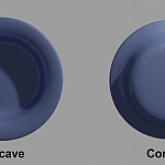 Side-by-side comparison of concave and convex objects