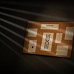 Genome diagrams on corkboard