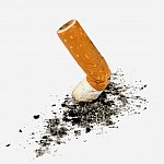 Phot of a crushed cigarette