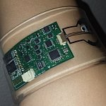 Wearable sensor on wrist.