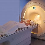 Women in MRI scanner