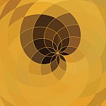 Abstract yellow floral shape background.
