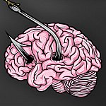 Brain with fish hook