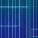 Abstract image of horizontal and vertial lines on a blue background.
