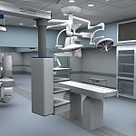 Operating room with multiple imaging capabilities.