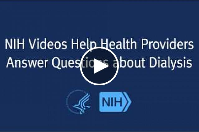 The eight short videos cover some of the most common questions patients ask about surgery to create an AV fistula, a connection between an artery and a vein in the arm that allows adequate blood flow for dialysis. The videos were produced by the NIH's National Kidney Disease Education Program (NKDEP) and the Fistula First Breakthrough Initiative (FFBI).