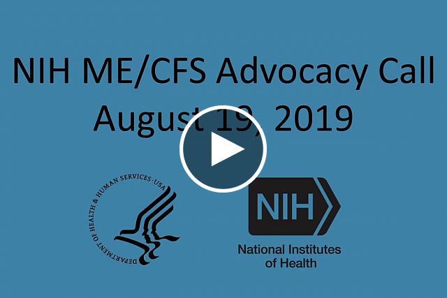 Updates on NIH's myalgic encephalomyelitis/chronic fatigue syndrome (ME/CFS) related activitie