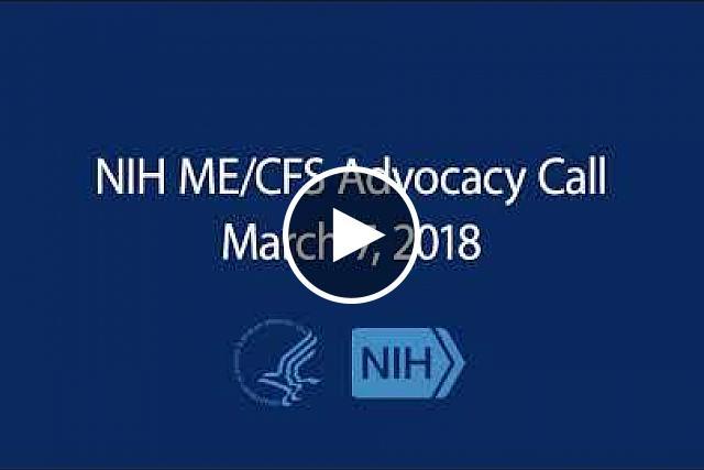 ME/CFS Advocacy Call - March 7, 2018