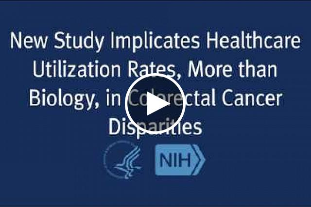 Higher rates of colorectal cancer incidence and mortality experienced by African-Americans may be driven largely by differences in health care utilization, and less by biology, according to a new study led by researchers from the National Cancer Institute (NCI), part of the National Institutes of Health.