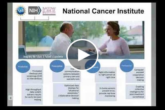 Smart and Connected Health:  Inter-Agency Program (NSF -- NIH) Webinar