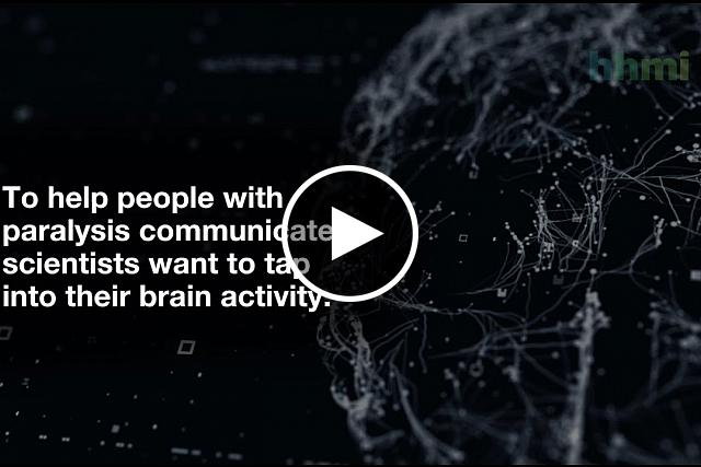 Video of how a brain computer interface turns mental handwriting into text on a screen
