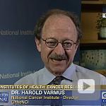 video screenshot of Dr. Harold Varmus.
